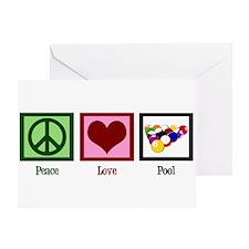 Peace Love Pool Greeting Card