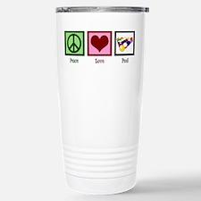 Peace Love Pool Stainless Steel Travel Mug