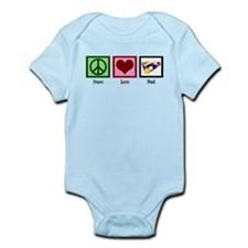 Peace Love Pool Infant Bodysuit