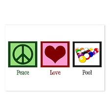 Peace Love Pool Postcards (Package of 8)