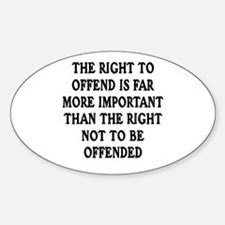 Right To Offend Oval Decal