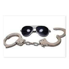 Aviator Glasses Handcuffs Postcards (Package of 8)