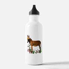Burro in Straw Hat Water Bottle