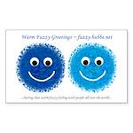 """Blue Fuzzies"" Rectangle Sticker"