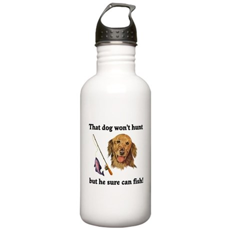 Fishing Dog Stainless Water Bottle 1.0L
