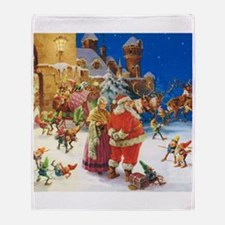 Santa and Mrs. Claus Throw Blanket