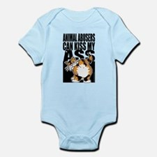 Animal Abusers Can Kiss My As Infant Bodysuit