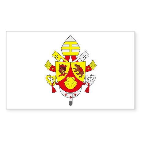 Pope Benedict XVI Rectangle Sticker