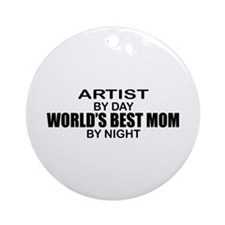 World's Best Mom - Artist Ornament (Round)