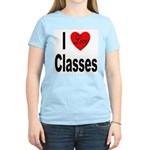 I Love Classes (Front) Women's Pink T-Shirt