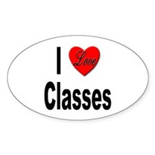 I Love Classes Oval Decal