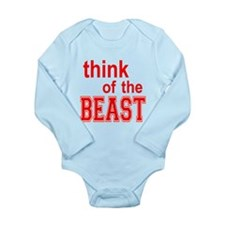 Think of the Beast Long Sleeve Infant Bodysuit