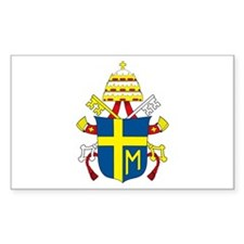 Pope John Paul II Rectangle Decal