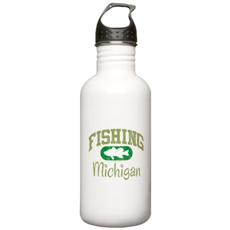 FISHING MICHIGAN Stainless Water Bottle 1.0L