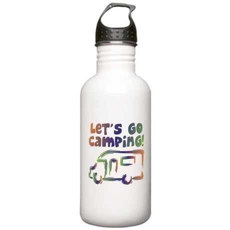 LET'S GO CAMPING! Stainless Water Bottle 1.0L