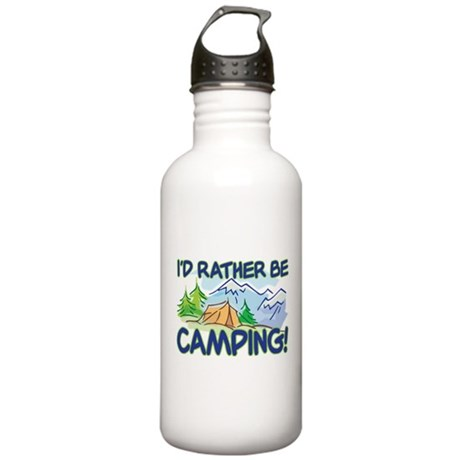 I'D RATHER BE CAMPING! Stainless Water Bottle 1.0L