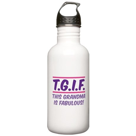 THIS GRANDMA IS FABULOUS! Stainless Water Bottle 1