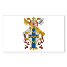 Pope Pius II Rectangle Decal