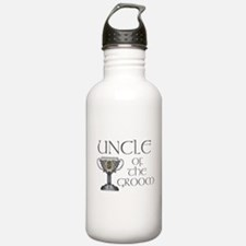 Celtic Uncle of Groom Water Bottle