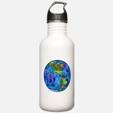 Earth Day Planet Water Bottle