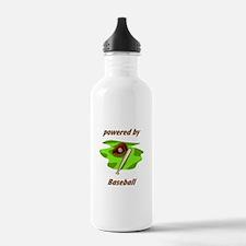 Powered By Baseball Water Bottle