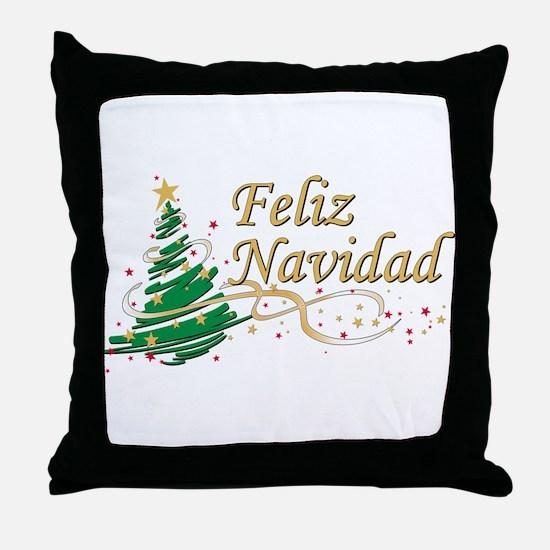 Feliz Navidad Throw Pillow