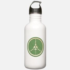 Crop Circle Peace Sign Water Bottle