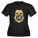 GSA Special Agent Women's Plus Size V-Neck Dark T-
