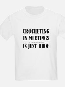Crocheting in Meetings T-Shirt