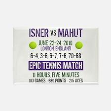 Isner Epic Match Rectangle Magnet