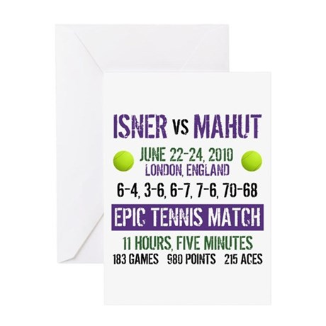 Isner Epic Match Greeting Card