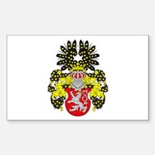 Bohemia Coat of Arms Rectangle Decal