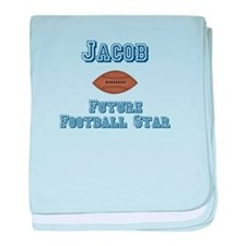 Jacob - Future Football Star baby blanket