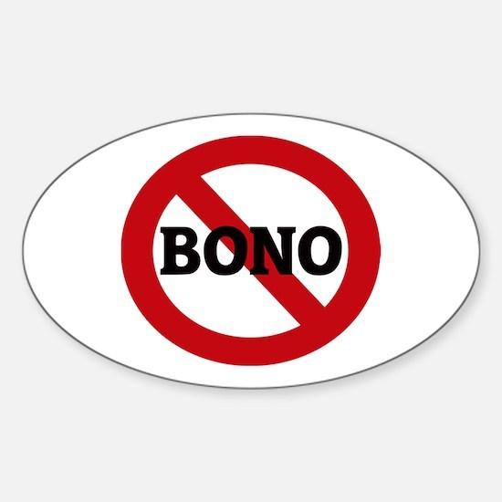 Anti-Bono Oval Decal