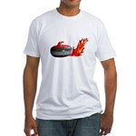 Flaming Rock Fitted T-Shirt