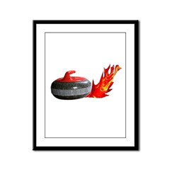 Flaming Rock Framed Panel Print