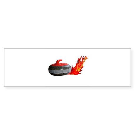 Flaming Rock Bumper Sticker