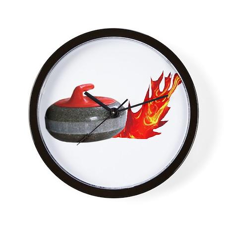 Flaming Rock Wall Clock