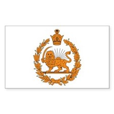 Persia Coat of Arms Rectangle Decal