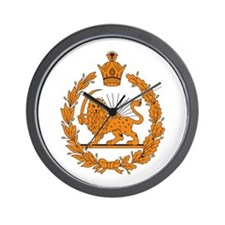 Persia Coat of Arms Wall Clock