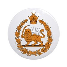 Persia Coat of Arms Ornament (Round)