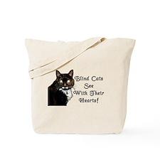 Cute Blind cat Tote Bag