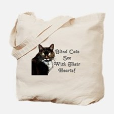 Cute Blind cat Tote Bag
