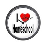 I Love Homeschool Wall Clock