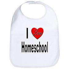 I Love Homeschool Bib