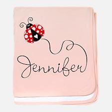 Ladybug Jennifer baby blanket