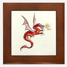 eldest Red Dragon Framed Tile