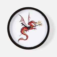 eldest Red Dragon Wall Clock