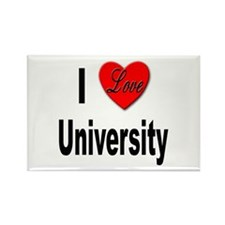 I Love University Rectangle Magnet