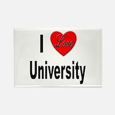 I Love University Rectangle Magnet